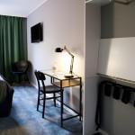 Hotellrum med skrivbord