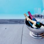 Champagne vid pool